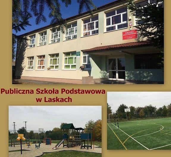 Publiczna Szkoła Podstawowa w Laskach ma stronę internetową
