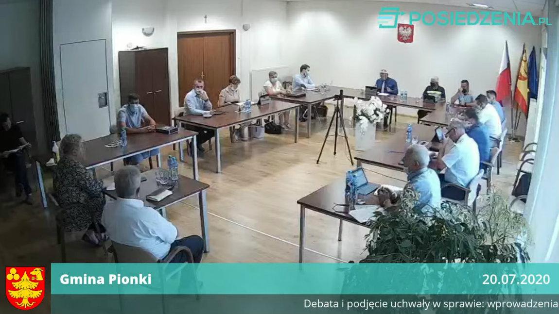 """XX /A Nadzwyczajna Sesja Rady Gminy Pionki -20.07.2020r."""""""